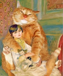 lady-and-the-cats-renoir-paint-by-numbers