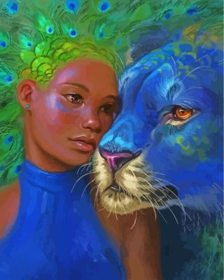 leopard-goddess-peafowl-paint-by-numbers