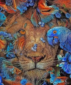 lion-and-parrot-and-fishes-paint-by-numbers