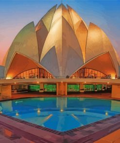 lotus-temple-paint-by-numbers