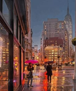 madison-square-park-new-york-rainy-paint-by-numbers