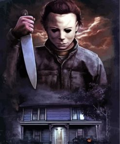 michael myers-paint-by-numbers