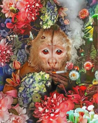 monkey-smoking-paint-by-numbers