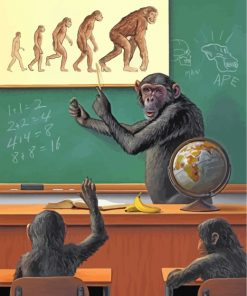 monkey's-class-paint-by-numbers