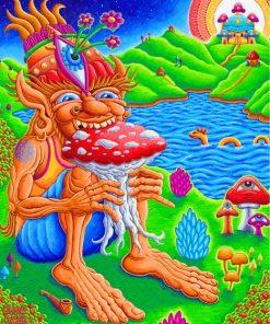 Mushroom Muncher Paint by numbers