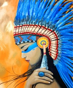 native-american-indian-paint-by-numbers