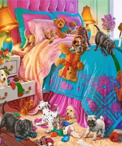Naughty Puppies Paint by numbers