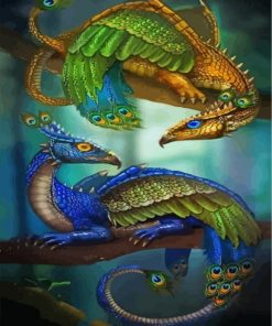peafowl-dragons-paint-by-numbers