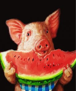 pig-eating-watermelon-paint-by-numbers