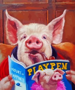 pig-reading-a-magazine-paint-by-numbers
