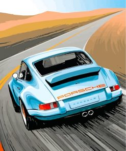 porsche-illustration-paint-by-numbers