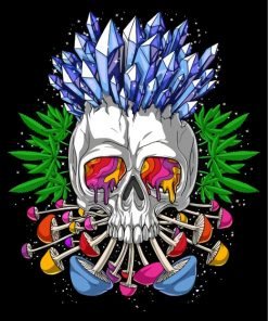 psychedelic skull-paint-by-numbers