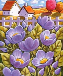 purple-flowers-paint-by-numbers