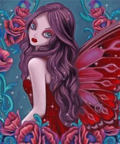 red-fairy-paint-by-numbers