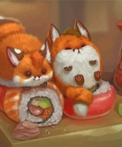 red-foxes-and-sushi-paint-by-numbers