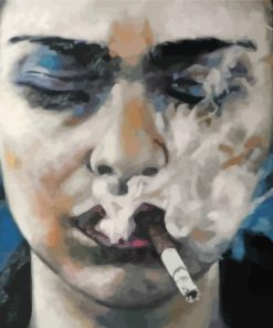 sad-lady-smoking-paint-by-numbers
