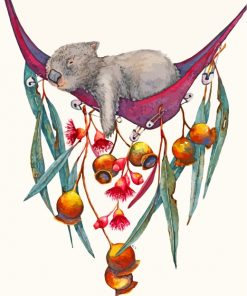 sleepy-wombat-paint-by-numbers