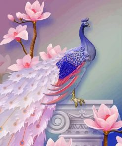 soft-purple-peacock-paint-by-numbers