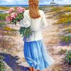 soft-woman-holding-pink-flowers-paint-by-numbers