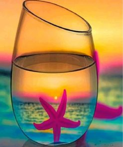 starfish-in-a-glass-paint-by-numbers