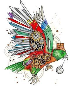 steampunk-bird-paint-by-numbers