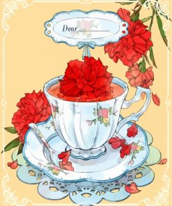 tea-with-red-flowers-paint-by-numbers