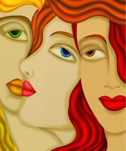 three-women-faces-paint-by-numbers