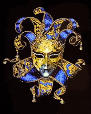 Venetian Carnival Mask Paint by numbers