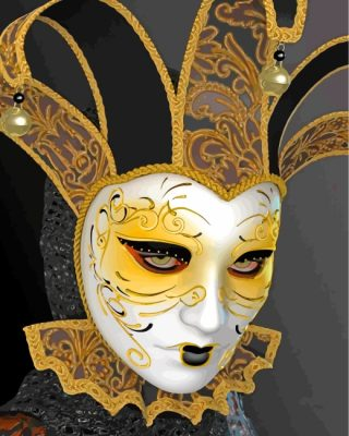 Venetian Mask Paint by numbers