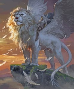 white-lion-with-wings-paint-by-numbers