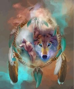 wolf-an-ddream-catcher-paint-by-numbers
