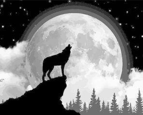 wolf-silhouette-paint-by-numbers