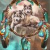 wolves-with-dream-catchers-paint-by-numbers