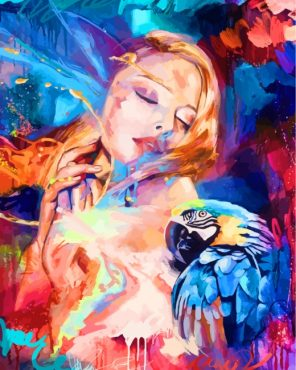 woman-and-parrot-paint-by-numbers