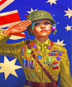 world-war-tank-girl-paint-by-numbers