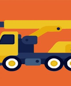 yellow-truck-paint-by-numbers