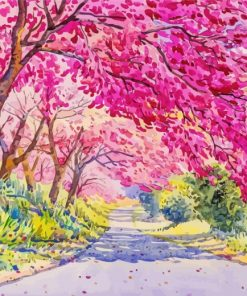 Aesthetic Spring Forest Paint by numbers