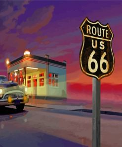 Aesthetic Route 66 Paint by numbers