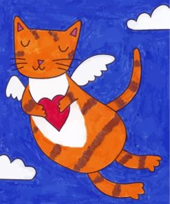 Angel Cat Paint by numbers