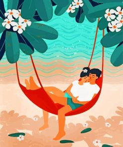 Anime Couple In Hammock Paint by numbers