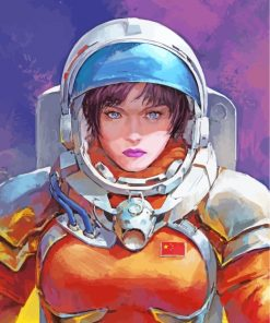 Astronaut Girl Paint by numbers