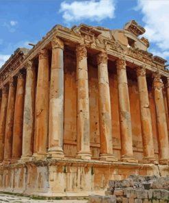 Baalbek Roman Ruins Paint by numbers