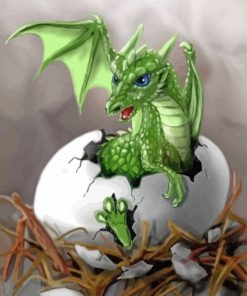 Baby Dragon Paint by numbers