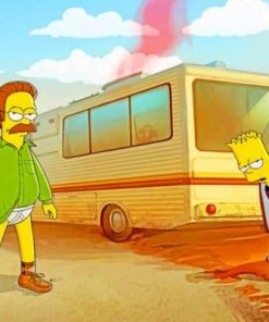 Bart And Heisenberg Simpsons paint by numbers
