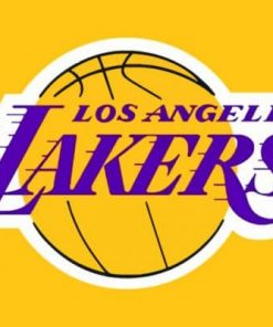 Basketball Team Lakers Logo Paint by numbers