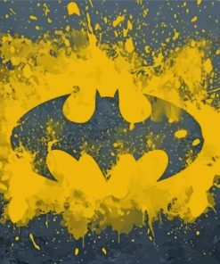 Batman Logo Paint by numbers
