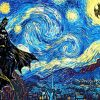Batman Starry Night Paint by numbers