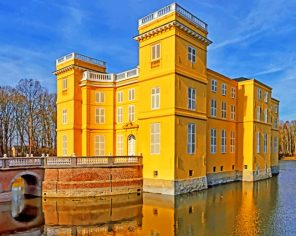 Belgium-Castles-Pond-DUrsel-paint-by-numbers