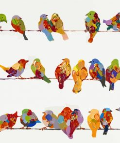 Birds On A Wire Art Paint by numbers