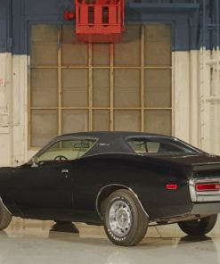 Black-Dodge-Charger-Car-paint-by-number